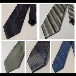 Lot of 5 High Quality Men's Name Brand Neckties